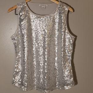 Liz Claiborne squins shirt